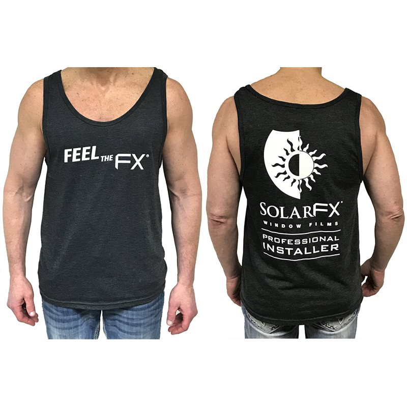 "SolarFX Men's Charcoal ""Feel the FX"" Tank Tops"