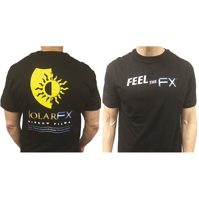 "SolarFX Men's Black Original ""Feel the FX"" Logo T-Shirt"