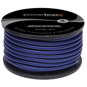 P / B - 4GA POWER WIRE - 100' SPOOL