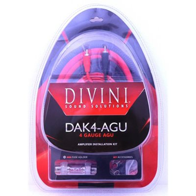DAVINI 4 GAUGE AMP KIT WITH AGU FUSE HOLDER
