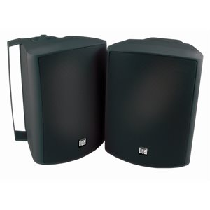 "DUAL - BLACK 4"" 3-WAY INDOOR / OUTDOOR SPEAKERS"