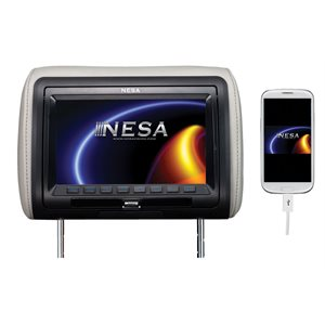 "NESA - SINGLE 9"" HEADREST WITH DVD & 3 COLOR SKINS & MHL"