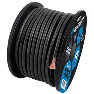 RAPTOR 25FT 1 / 0 GAUGE BLACK CCA WIRE