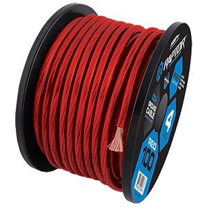 RAPTOR 100FT 4 GAUGE RED CCA WIRE