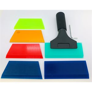 Six (6) Squeegees with Pro Series Handle!!
