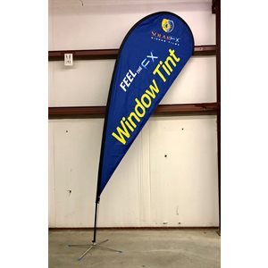 18' TEARDROP FEATHER BANNER W / STAND - VERSION 2
