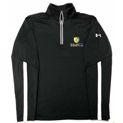 UNDER ARMOUR SOLARFX BLACK 1 / 4 ZIP - MEDIUM